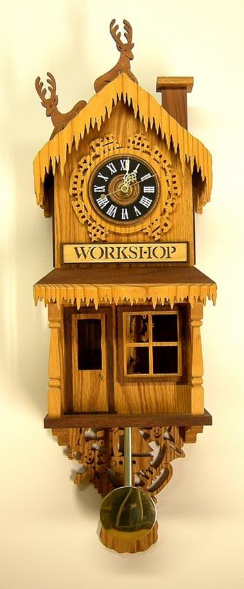 Santas Workshop Clock