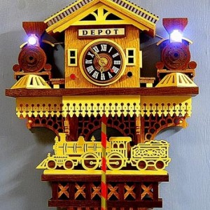 Train Depot Clock