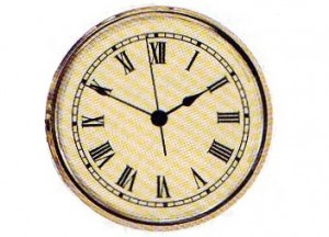 "2 ¾"" (70MM) White Roman Clock Insert"
