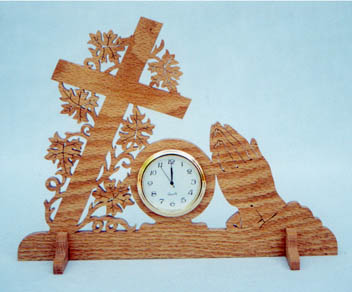 Praying Hands Clock