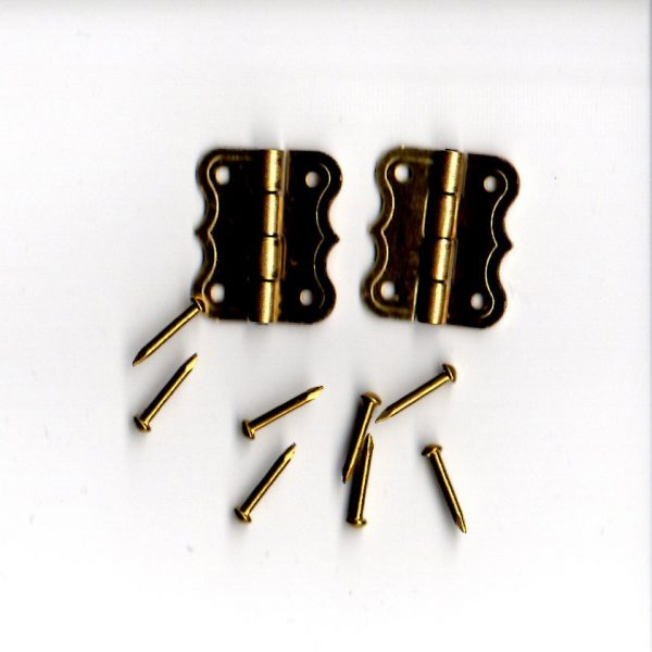 Five Eighths Brass Hinges