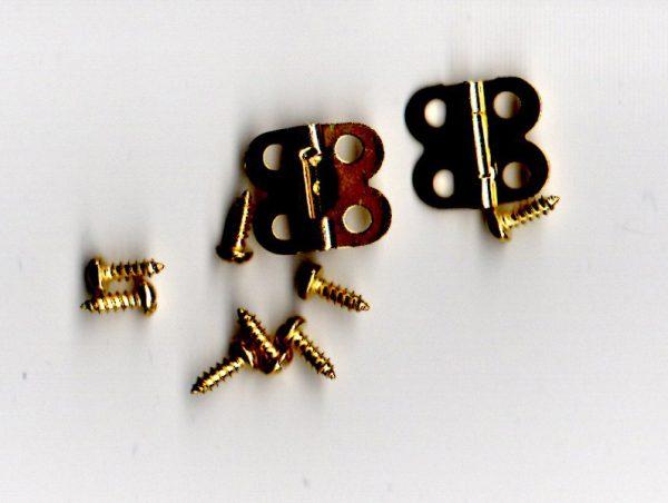 Half Inch Brass Hinge